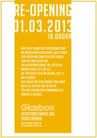 re opening glasbox 01032013 Bremen